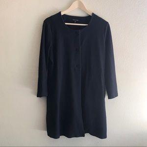 Eileen Fisher | Navy Blue Lightweight Jacket